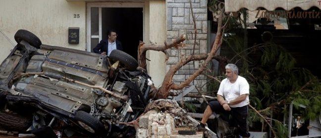 Жертви и библейски наводнения в Гърция