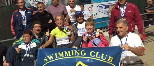 """Плувците ветерани на """"Ирис"""" обраха златните медали от Cyprus Masters Swimming Meet 2018"""